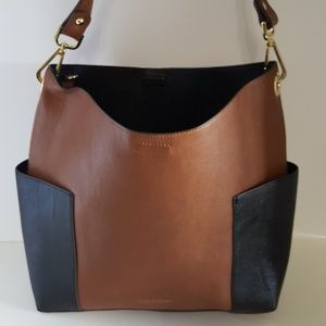 Calvin Klein Leather Reversible Bucket Handbag